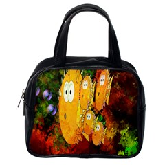 Abstract Fish Artwork Digital Art Classic Handbags (one Side)
