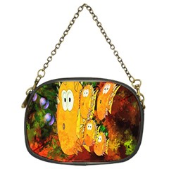 Abstract Fish Artwork Digital Art Chain Purses (Two Sides)