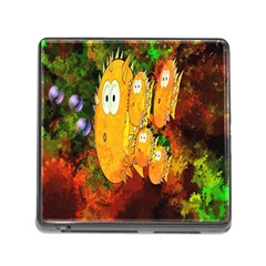 Abstract Fish Artwork Digital Art Memory Card Reader (Square)