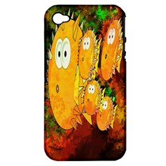 Abstract Fish Artwork Digital Art Apple Iphone 4/4s Hardshell Case (pc+silicone)