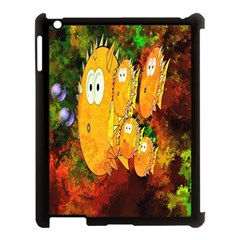 Abstract Fish Artwork Digital Art Apple iPad 3/4 Case (Black)