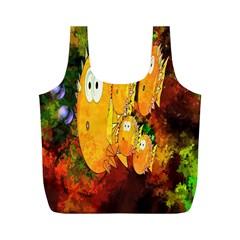Abstract Fish Artwork Digital Art Full Print Recycle Bags (M)