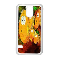 Abstract Fish Artwork Digital Art Samsung Galaxy S5 Case (White)