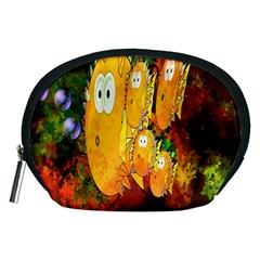 Abstract Fish Artwork Digital Art Accessory Pouches (medium)