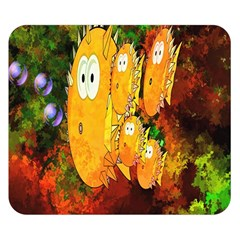 Abstract Fish Artwork Digital Art Double Sided Flano Blanket (Small)