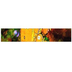 Abstract Fish Artwork Digital Art Flano Scarf (Large)