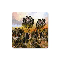Abstract Digital Art Square Magnet