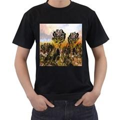 Abstract Digital Art Men s T-Shirt (Black)