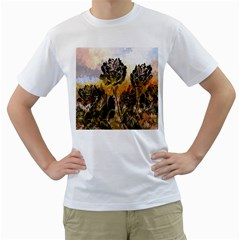 Abstract Digital Art Men s T Shirt (white)