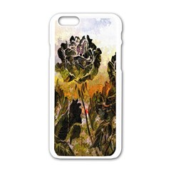 Abstract Digital Art Apple iPhone 6/6S White Enamel Case