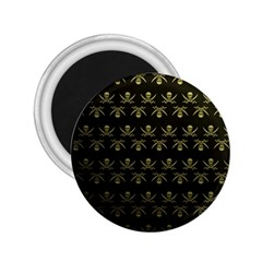 Abstract Skulls Death Pattern 2.25  Magnets