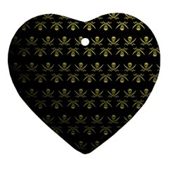Abstract Skulls Death Pattern Ornament (heart)