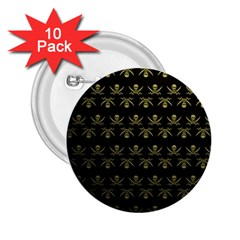Abstract Skulls Death Pattern 2.25  Buttons (10 pack)