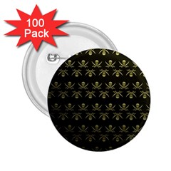 Abstract Skulls Death Pattern 2.25  Buttons (100 pack)