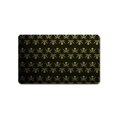 Abstract Skulls Death Pattern Magnet (Name Card)
