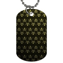 Abstract Skulls Death Pattern Dog Tag (One Side)