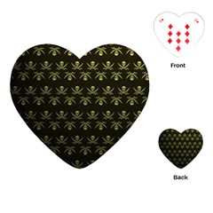 Abstract Skulls Death Pattern Playing Cards (Heart)