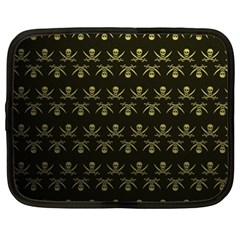 Abstract Skulls Death Pattern Netbook Case (Large)