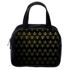 Abstract Skulls Death Pattern Classic Handbags (One Side)