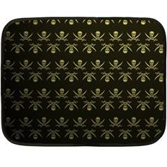 Abstract Skulls Death Pattern Fleece Blanket (Mini)