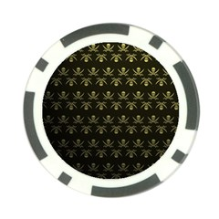 Abstract Skulls Death Pattern Poker Chip Card Guard (10 pack)