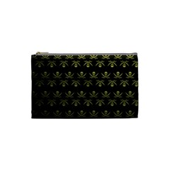 Abstract Skulls Death Pattern Cosmetic Bag (Small)