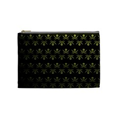 Abstract Skulls Death Pattern Cosmetic Bag (Medium)