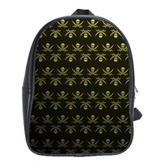 Abstract Skulls Death Pattern School Bags(Large)