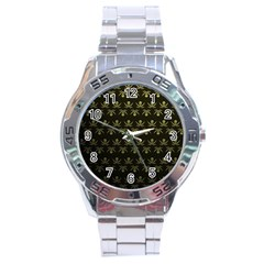 Abstract Skulls Death Pattern Stainless Steel Analogue Watch