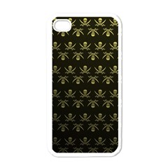 Abstract Skulls Death Pattern Apple iPhone 4 Case (White)