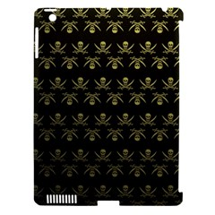 Abstract Skulls Death Pattern Apple iPad 3/4 Hardshell Case (Compatible with Smart Cover)
