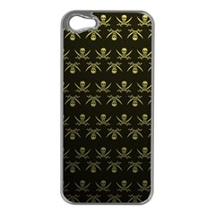 Abstract Skulls Death Pattern Apple Iphone 5 Case (silver)