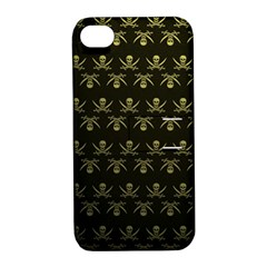 Abstract Skulls Death Pattern Apple iPhone 4/4S Hardshell Case with Stand