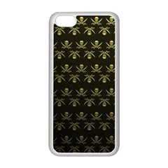 Abstract Skulls Death Pattern Apple iPhone 5C Seamless Case (White)