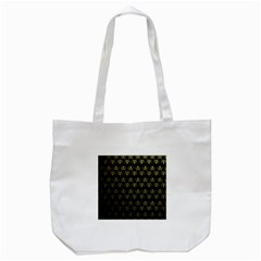Abstract Skulls Death Pattern Tote Bag (white)