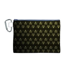 Abstract Skulls Death Pattern Canvas Cosmetic Bag (M)