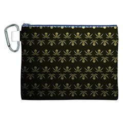 Abstract Skulls Death Pattern Canvas Cosmetic Bag (xxl)