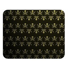 Abstract Skulls Death Pattern Double Sided Flano Blanket (large)