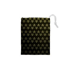 Abstract Skulls Death Pattern Drawstring Pouches (XS)