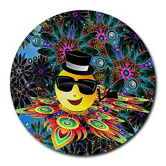 Abstract Digital Art Round Mousepads