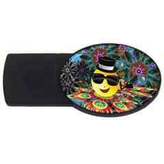 Abstract Digital Art USB Flash Drive Oval (1 GB)
