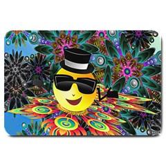 Abstract Digital Art Large Doormat