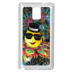 Abstract Digital Art Samsung Galaxy Note 4 Case (White)