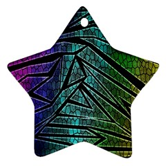 Abstract Background Rainbow Metal Ornament (Star)