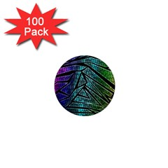 Abstract Background Rainbow Metal 1  Mini Magnets (100 Pack)
