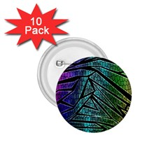 Abstract Background Rainbow Metal 1.75  Buttons (10 pack)