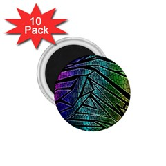 Abstract Background Rainbow Metal 1.75  Magnets (10 pack)