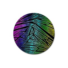 Abstract Background Rainbow Metal Magnet 3  (Round)