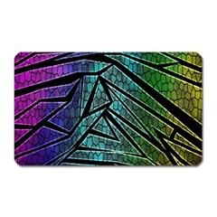 Abstract Background Rainbow Metal Magnet (Rectangular)