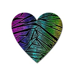 Abstract Background Rainbow Metal Heart Magnet